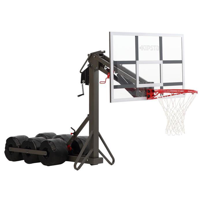 Basketbalpaal B900 kind/volw. 2,40 tot 3,05 m. Afgesteld en opgeborgen in 2 min.