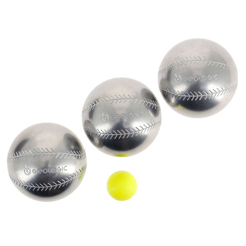 LEISURE PETANQUE BALLS Boules and Petanque - DISCOVERY 300 BASE-BALL BOULES GEOLOGIC - Boules and Petanque