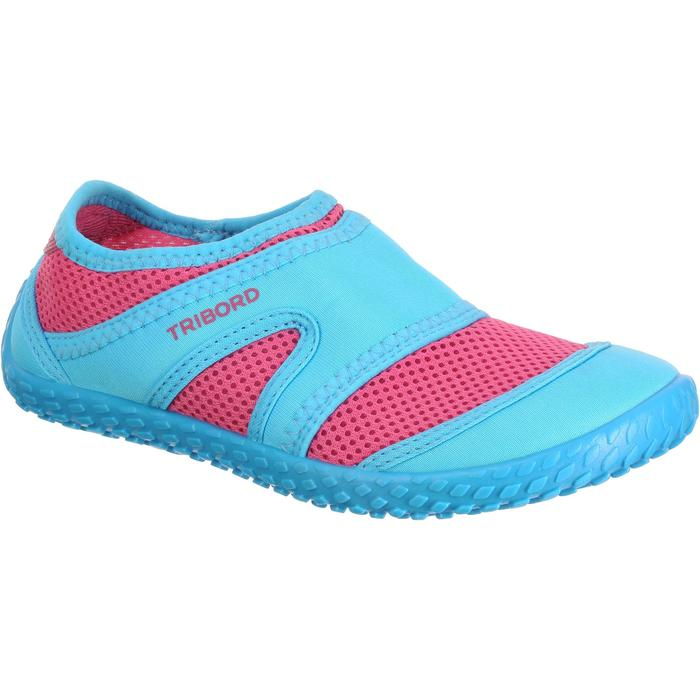 Chaussures aquatiques Aquashoes 100 noires turquoises - 24805