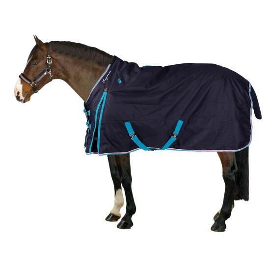 Buitendeken Allweather 300 1.000 D kastanjebruin - pony en paard - 24833