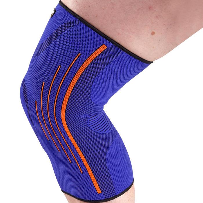 Linker/rechter kniebandage heren/dames Soft 300 blauw