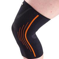 Men's/Women's Right/Left Compression Knee Support Soft 300 - Black