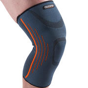 Men's/Women's Right/Left Compression Knee Support Soft 300 - Grey