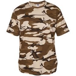 G100 short sleeved T-Shirt Camouflage Beige