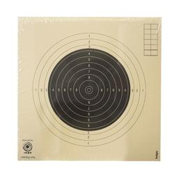 100 schietschijven voor karabijnschieten 50 m 20 cm x 20 cm