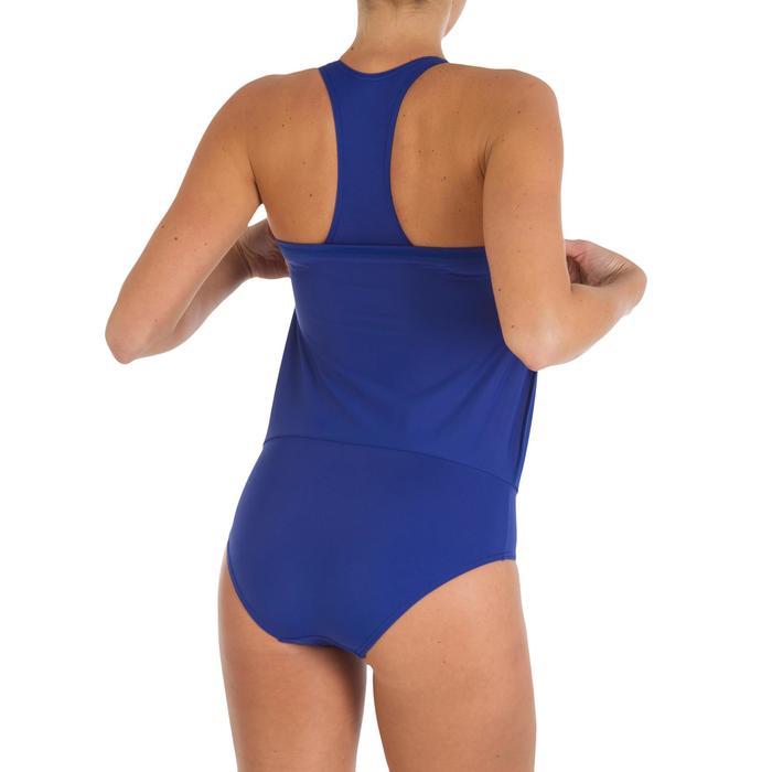 Leony Women's One-Piece Skirt Swimsuit - Blue - 2594