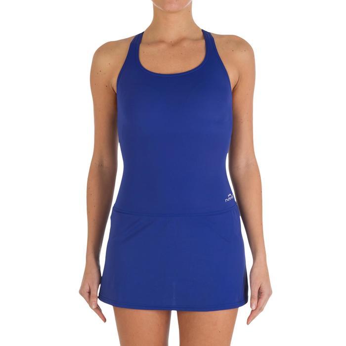 Leony Women's One-Piece Skirt Swimsuit - Blue - 2595