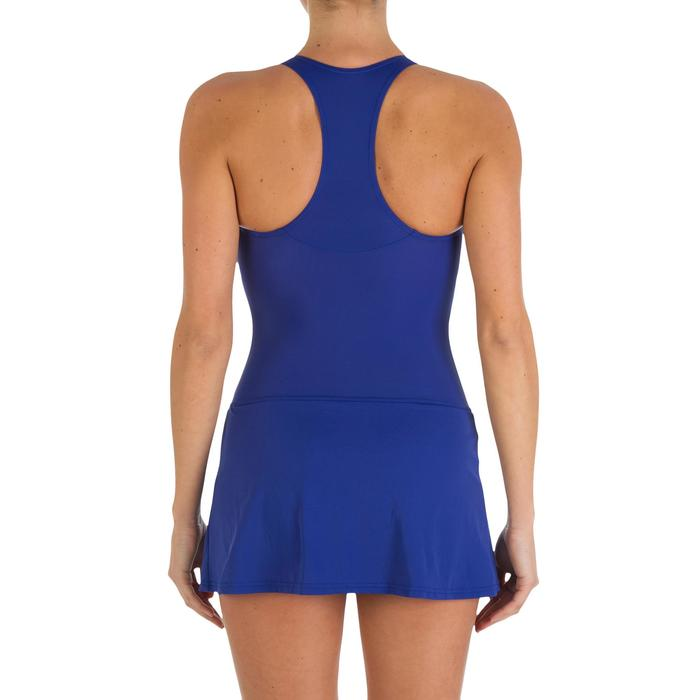 Leony Women's One-Piece Skirt Swimsuit - Blue - 2596