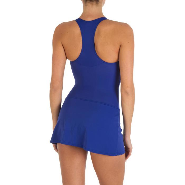 Leony Women's One-Piece Skirt Swimsuit - Blue - 2598