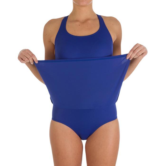 Leony Women's One-Piece Skirt Swimsuit - Blue - 2599
