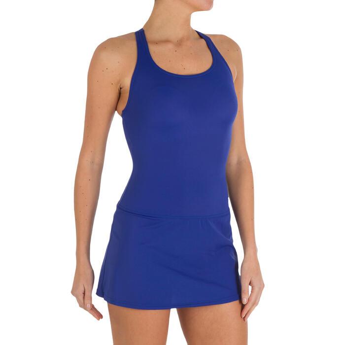 Leony Women's One-Piece Skirt Swimsuit - Blue - 2600