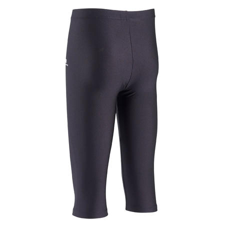 100 Girls' Gym Cropped Bottoms (WAG and RG) - Black