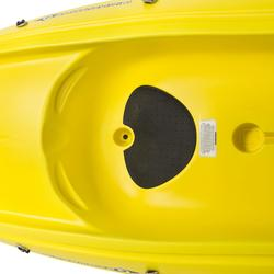 Stijve kajak Ouassou 1-persoons geel