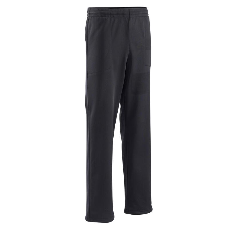 Pantalón jogger GYM'Y transpirable amplio negro NIÑOS