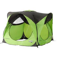 Shelter met deuren camping / trekking Seconds XL 6 personen UPF 30 groen