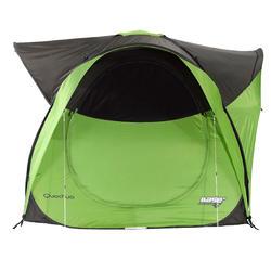 Shelter met deuren camping / trekking Seconds XL 6 personen UPF 30 groen - 264793