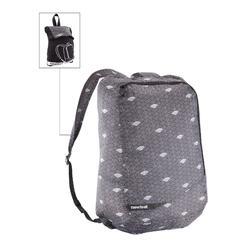 摺疊雙肩包Pocket Bag-灰色雲朵