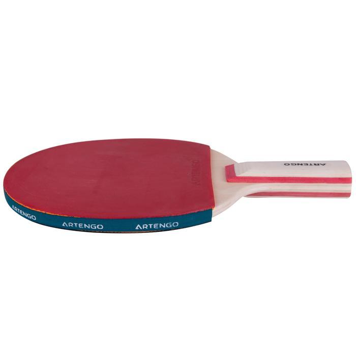 桌球拍FR 130 Short-紅色/黑色