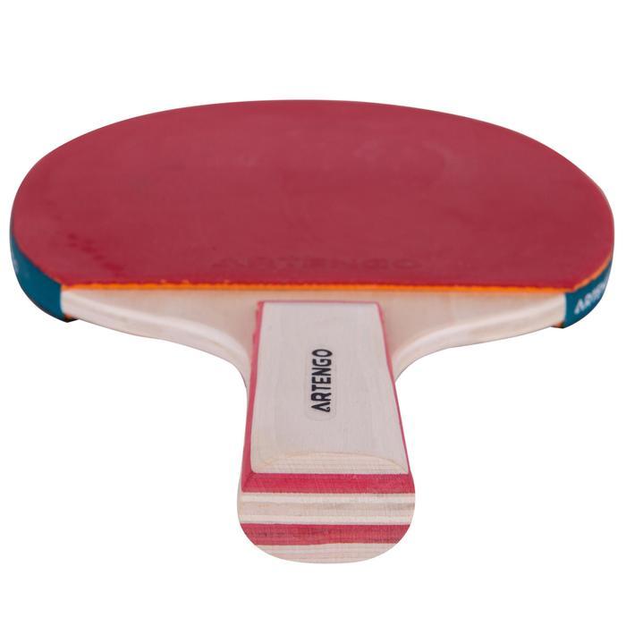 FR 130 成人乒乓球拍 - 紅色/黑色