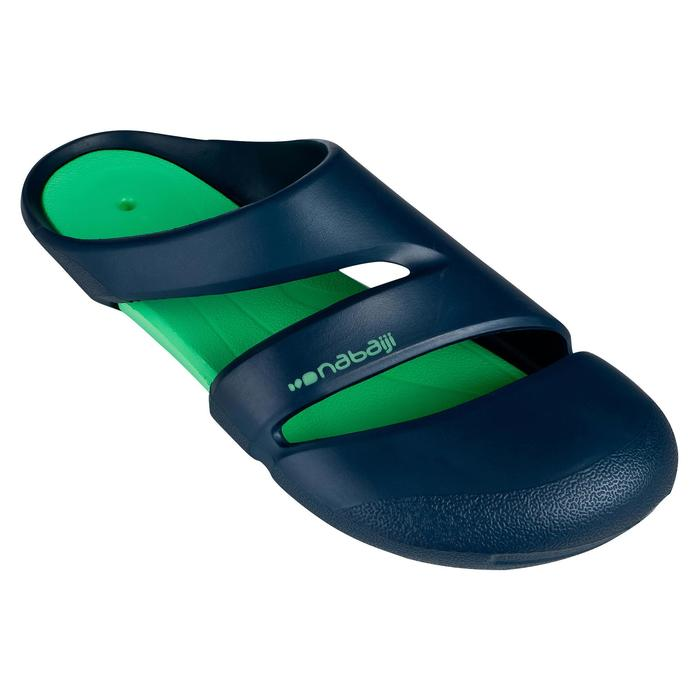 藍綠色男款泳池拖鞋100