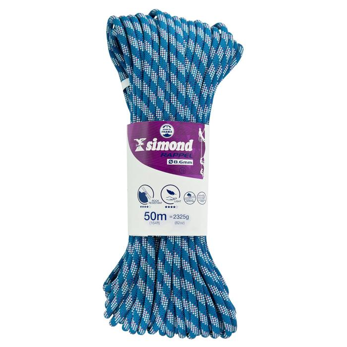 Abseiling Half Rope - 8.6mm x 50m - 267069