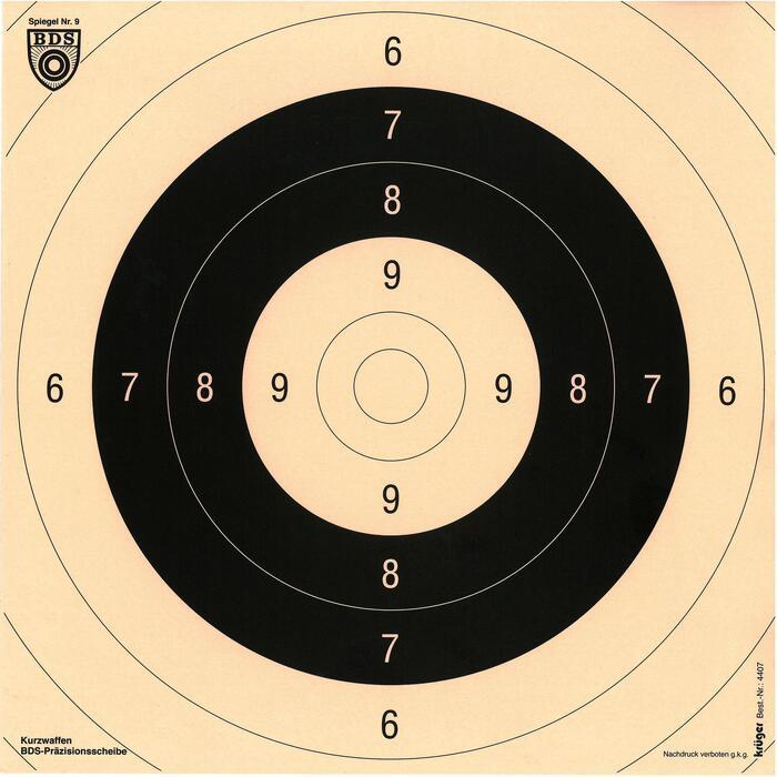 Schietkaarten voor afstellen geweer 26 x 26 cm 100 stuks