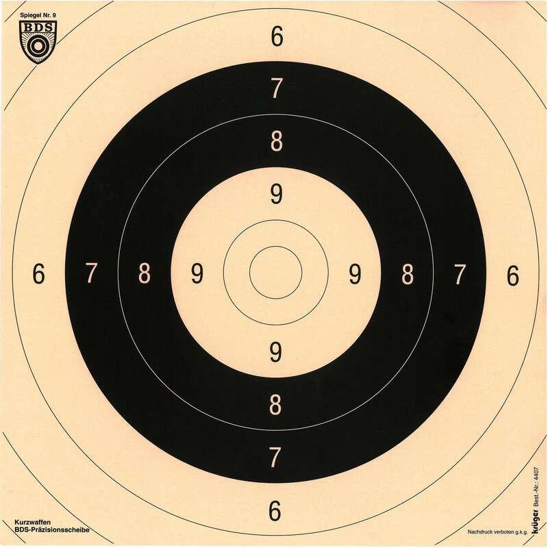 WYPOSAŻENIE STRZELANIE PRECYZYJNE Strzelectwo sportowe - Tarcza 26 cm x 26 cm KRUGER DRUCK PLUS VE - Sporty