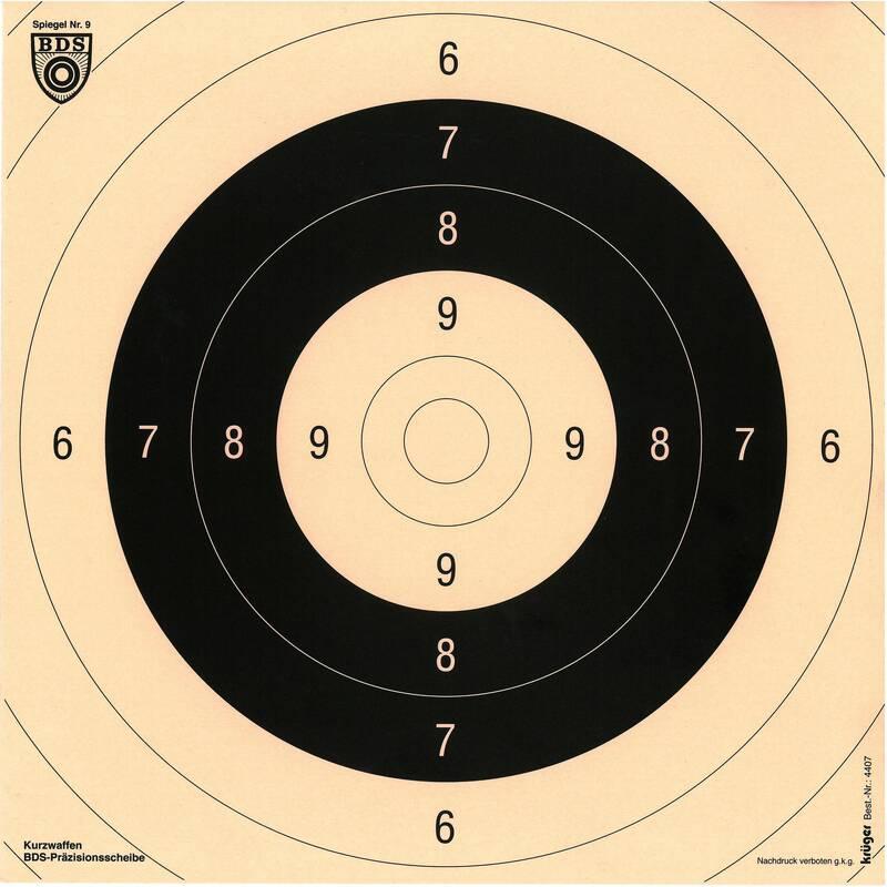 TERČE/OLOVNATÉ STŘELIVO Myslivost a lovectví - NASTŘELOVACÍ TERČ 26 × 26 CM KRUGER DRUCK PLUS VE - Sportovní střelba