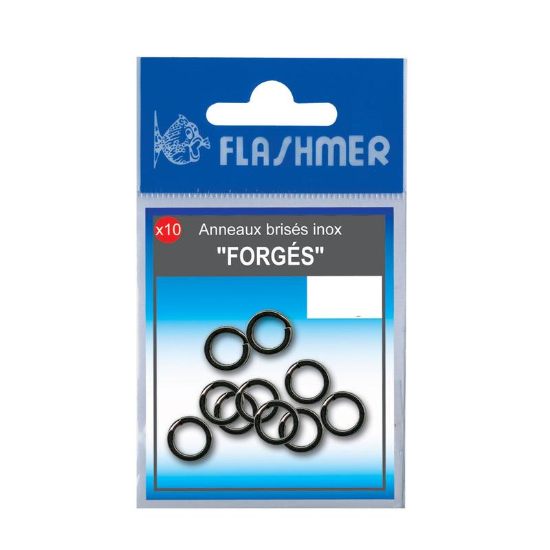 Stainless steel forged split rings 9mm