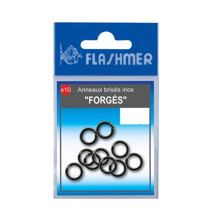 Gesmede rvs ringen 9 mm zeehengelen