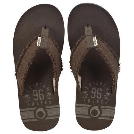 TO500 Big PRINT men's flip-flops - Teak