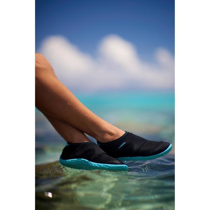 Chaussures aquatiques Aquashoes 100 noires turquoises - 269912