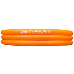 Rond oranje opblaasbaar zwembadje met 3 banden van 152 cm diameter en 30 cm hoog - 27001