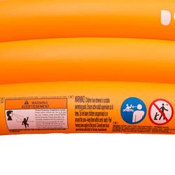 Rond oranje opblaasbaar zwembadje met 3 banden van 152 cm diameter en 30 cm hoog - 27003