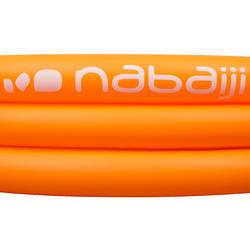 Rond oranje opblaasbaar zwembadje met 3 banden van 152 cm diameter en 30 cm hoog - 27004