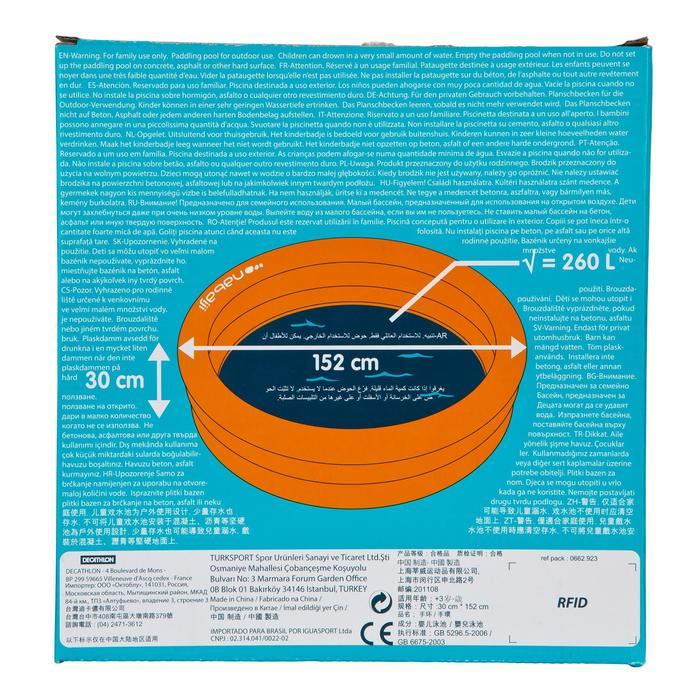 Piscine gonflable ronde munie de trois boudins largeur 152cm hauteur 30cm - 27033