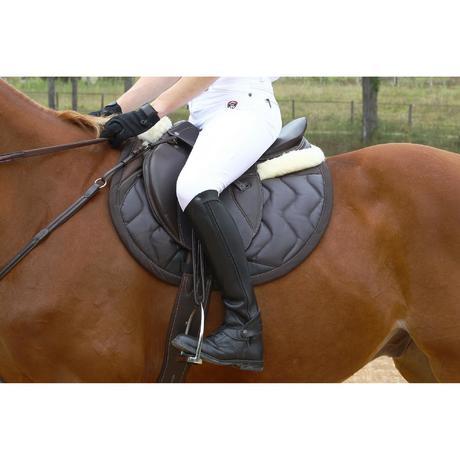 tapis de selle quitation tinckle marron taille cheval. Black Bedroom Furniture Sets. Home Design Ideas