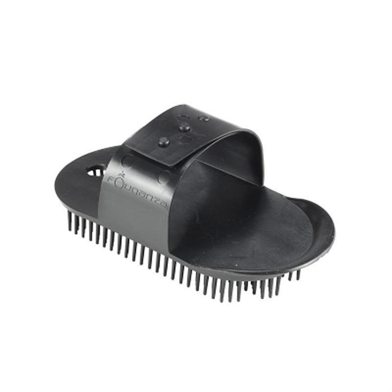 Schooling Adult Large Horse Riding Sarvis Curry Comb - Black