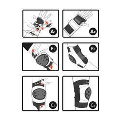Set 3 beschermers Basic voor kinderen, voor inlineskaten, skateboard, step - 270993