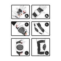 Basic Kids' 3-Piece Skating Skateboarding Scooter Protective Gear - Black