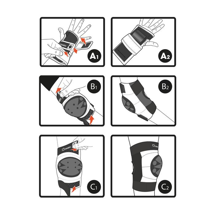 Basic Children's 3-Piece Protective Gear for Skates/Skateboard/Scooter - Blue - 270993