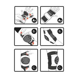 Set 3 beschermers voor kinderen voor skeeleren, skateboard, step Basic blauw