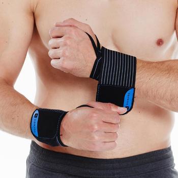Poignets de protection musculation serrage velcro - 271314