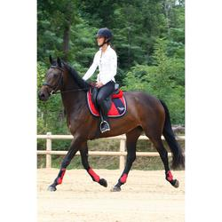 Amortisseur de dos mousse équitation cheval et poney LENA POLAIRE rouge