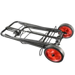 Opvouwbare trolley voor transport van kampeermateriaal