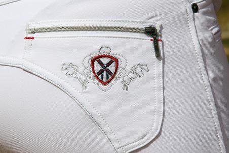 """Varžyboms skirtos moteriškos jojimo kelnės """"BR700"""", baltos"""