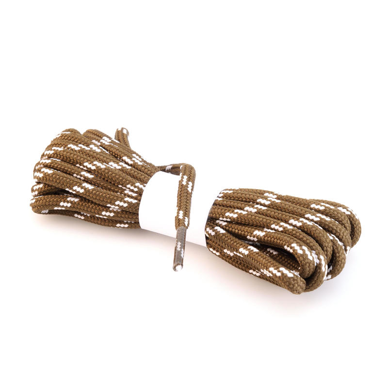 Round Hiking Boot Laces - Brown Grey