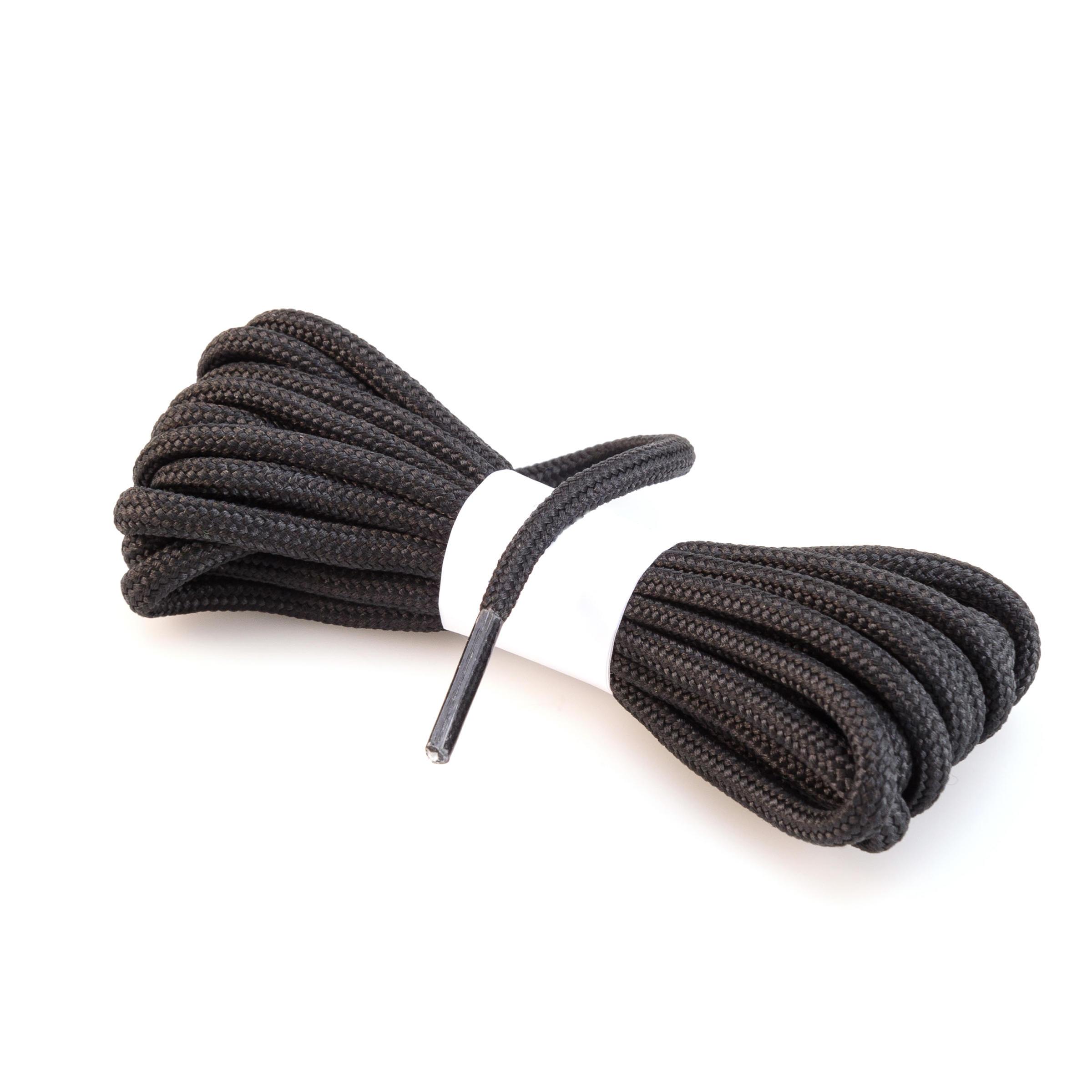 Lacet rond de chaussure de randonnée noir