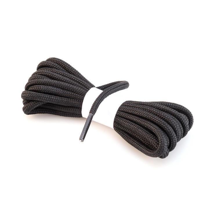 Cordones redondos de botas de senderismo negro