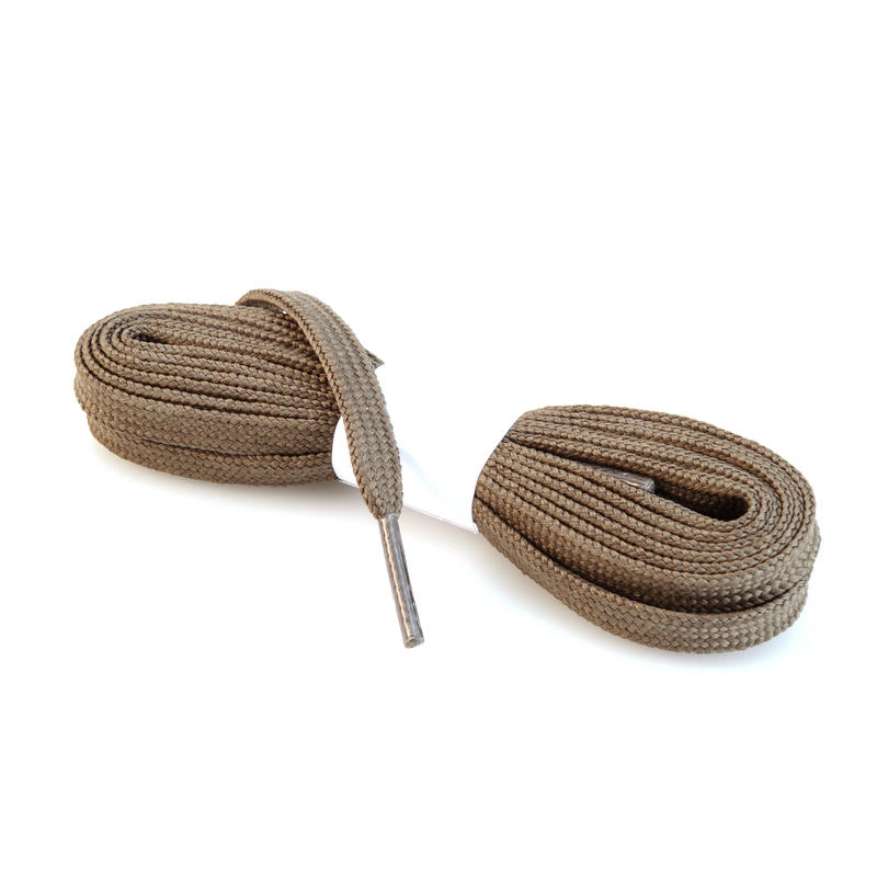 Flat Hiking Boot Laces - Khaki